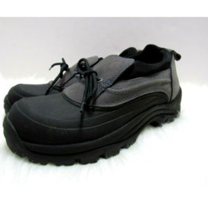 Lands End Duck Shoes Hiking Leather Rubber Boots
